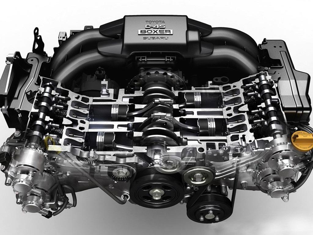 丰田 斯巴鲁联合开发的2.0l四缸水平对置发动机高清图片