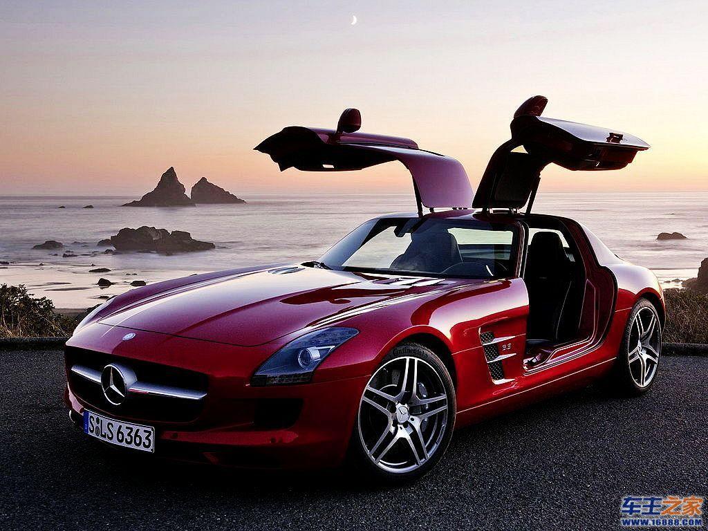 红色 奔驰amg级 高清图片