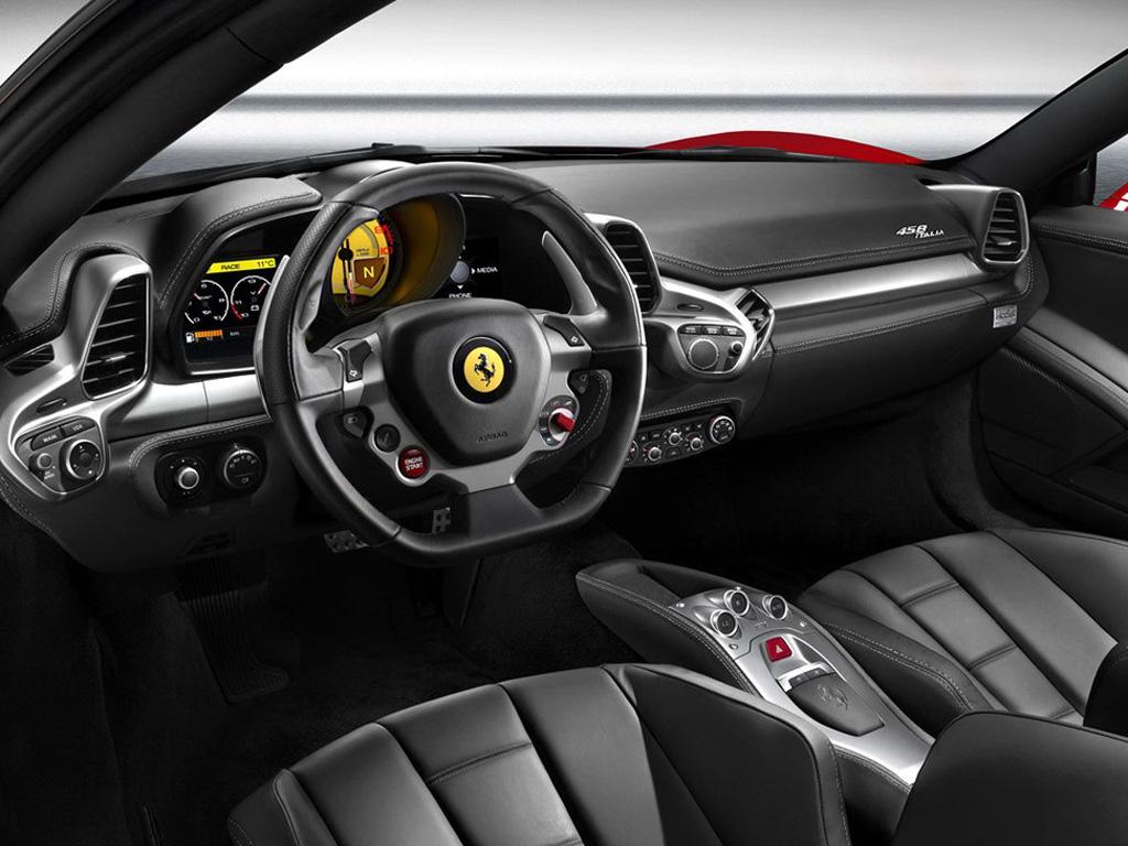 黑色法拉利458 italia驾驶室全景 高清图片