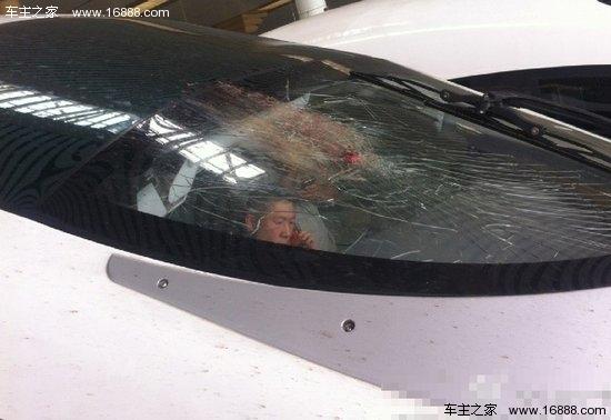 一列g38由杭州南开往北京的高铁,在镇江被一只鸟撞到了挡风玻璃,导致