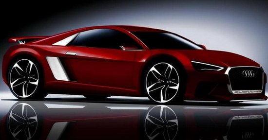 全新奥迪R8最新效果图 明年投产图片