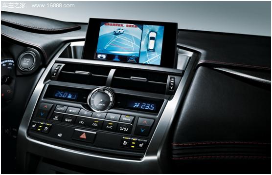 360度全景监视器的车型,由带4个摄像头的摄像系统和可显示全景图的