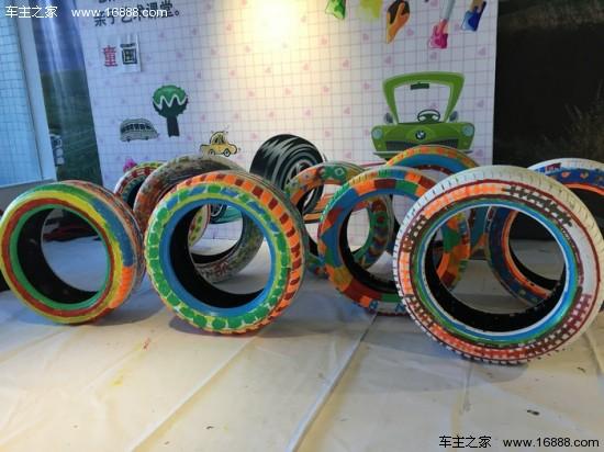 轮胎涂鸦_汕头宝悦:bmw创意轮胎涂鸦秀圆满落幕